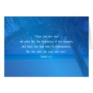 Escritura azul tropical do líder da apreciação do cartão comemorativo