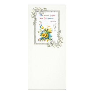 Escritura cristã e flores bonito 10.16 x 22.86cm panfleto