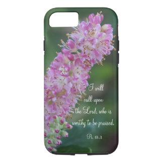 Escritura floral cor-de-rosa das capas de iphone
