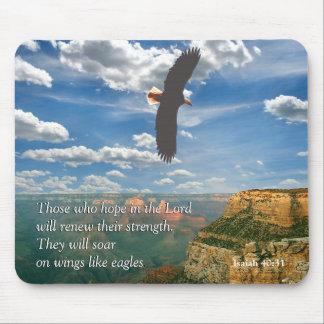 Escritura Mousepad do 40:31 de Isaiah
