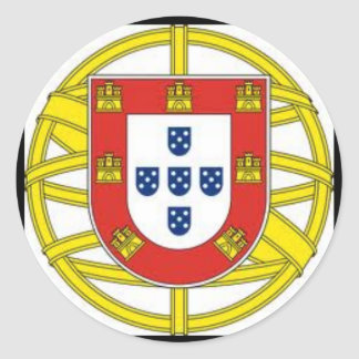 Escudo Portugues Aesivo da etiqueta do globo de