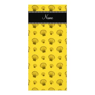 Escudos amarelos conhecidos personalizados 10.16 x 22.86cm panfleto