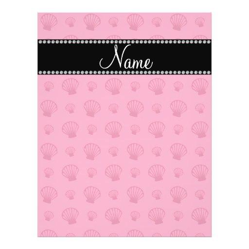 Escudos cor-de-rosa conhecidos personalizados panfleto coloridos