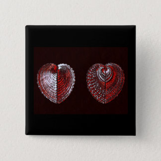 Escudos do coração quebrado bóton quadrado 5.08cm