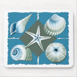 Escudos do mar azul e verde mousepad