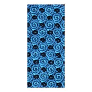 Escudos e flores azuis 10.16 x 22.86cm panfleto