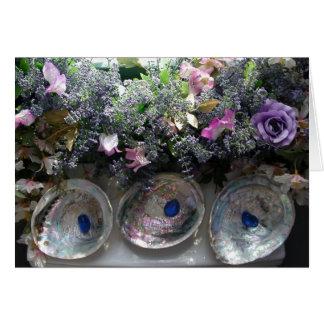 Escudos e flores - cartões de agradecimentos