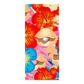 Escudos e hibiscus 10.16 x 22.86cm panfleto