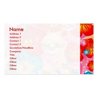 Escudos e hibiscus modelo cartão de visita