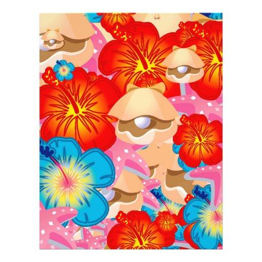 Escudos e hibiscus panfleto