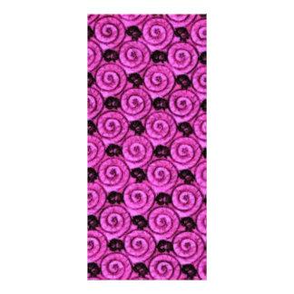Escudos e rosa das flores 10.16 x 22.86cm panfleto