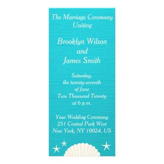 Escudos em programas da cerimónia de casamento da planfeto informativo colorido