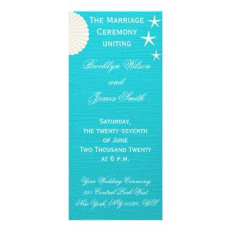 Escudos em programas da cerimónia de casamento da 10.16 x 22.86cm panfleto