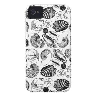 Escudos preto e branco do mar capinha iPhone 4