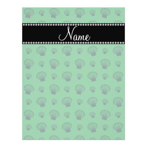 Escudos verdes conhecidos personalizados panfleto
