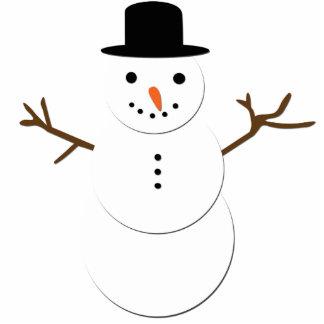 Escultura alegre da foto do boneco de neve fotoescultura