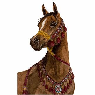 Escultura árabe ideal egípcia da foto do cavalo fotoesculturas