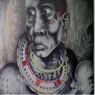 Escultura bonita da foto de Hakuna Matata Maasai Esculturafoto
