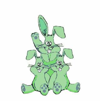 Escultura da foto de três coelhos foto escultura