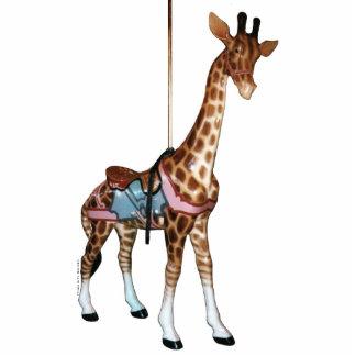 Escultura da foto do girafa do carrossel do eco do foto esculturas
