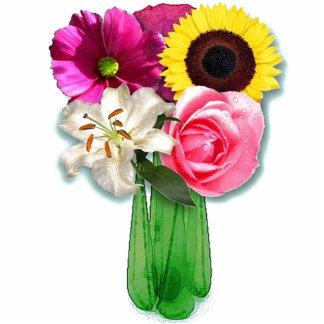 Escultura da foto do vaso de flores fotoescultura
