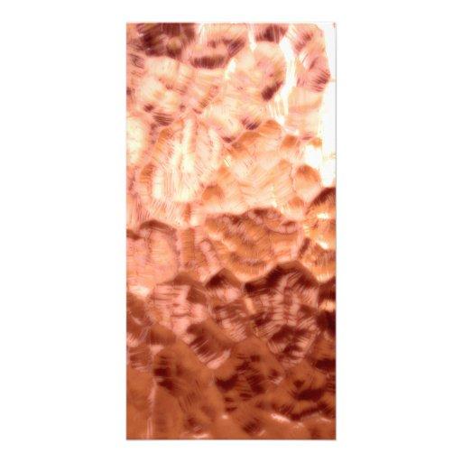 Escultura de cobre de incandescência cartoes com fotos