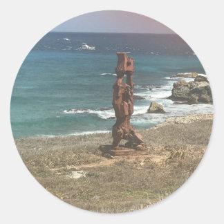 Escultura de Punta Sur, etiquetas de México