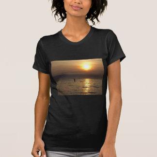 Escultura do homem do ferro Crosby Liverpool Rei Camisetas