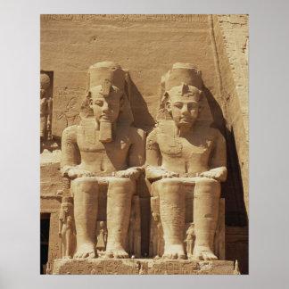 Escultura em Abu Simbel - Cairo, Egipto Poster