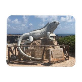 Escultura Isla Mujeres da iguana, ímã da foto de
