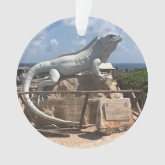Escultura Isla Mujeres da iguana, ornamento de