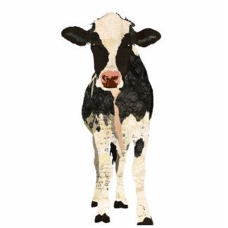 Escultura preta & do marfim da vaca escultura fotos