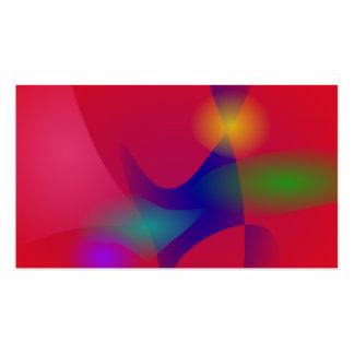 Escuro - arte abstracta vermelha cartão de visita