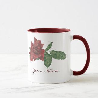 Escuro - caneca da rosa vermelha