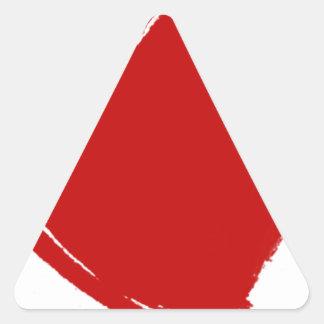 Escuro - CORAÇÃO vermelho Adesivo Triangular