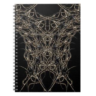 escuro de ouro cadernos espiral