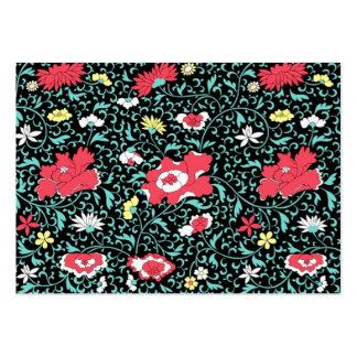 escuro do fundo do em do florido do padrão cartão de visita grande