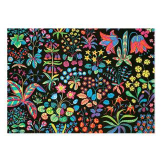 escuro floral do fundo do em do padrão cartão de visita grande