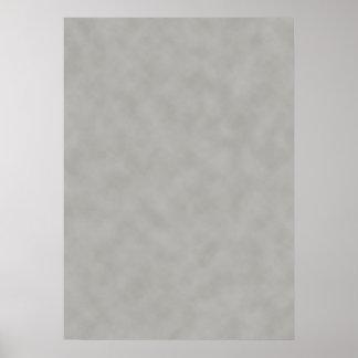 Escuro - fundo cinzento da textura do pergaminho poster