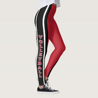 Escuro - jogador de voleibol vermelho, branco e leggings