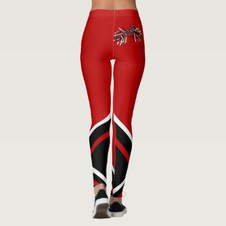 Escuro - megafone vermelho, branco e preto do leggings