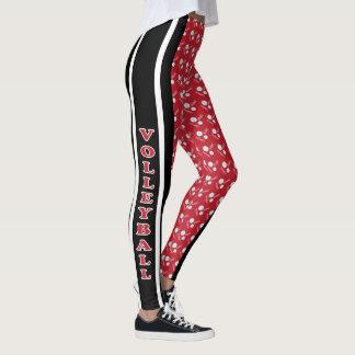 Escuro - teste padrão vermelho, branco e preto do leggings