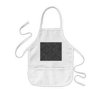 Escuro - textura cinzenta da placa do diamante avental infantil