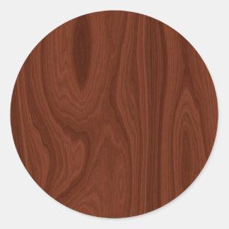 Escuro - textura de madeira vermelha adesivo