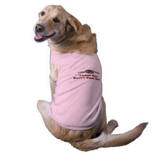 Escuta a roupa do animal de estimação do nó de camisa sem mangas para cachorro
