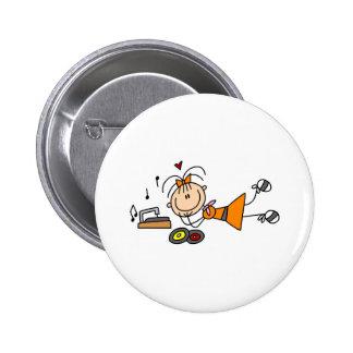 Escuta o botão do jogador gravado bóton redondo 5.08cm