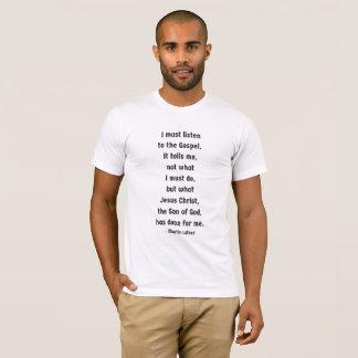 Escute a camisa dos homens do evangelho