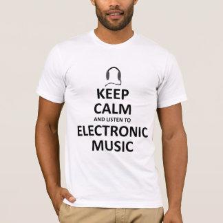 Escute a música eletrônica camiseta