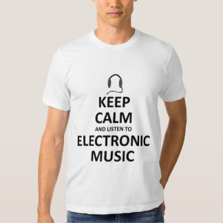 Escute a música eletrônica tshirts