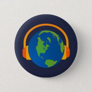 Escute o botão da terra bóton redondo 5.08cm